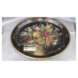 Vintage hand painted tray signed