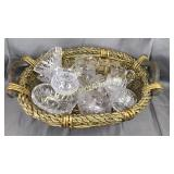 Basket of quality crystal