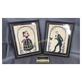 Set of framed needlework