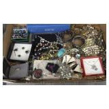 Box of Quality costume jewelry-sets, bracelets,