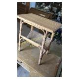 Antique wicker side table 14x22x24h