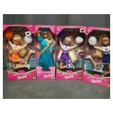 4 Barbies