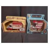 2 Ertl Model Truck Banks