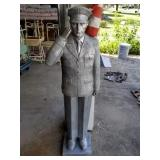 4' Tall Figural Soldier Flag Stand