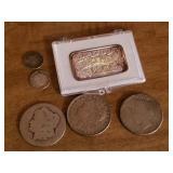 US Silver Coins & Silver Bar