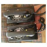 Pair of Bell System Western Electric Rotary Phones