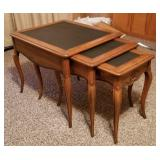 Set of Nesting End Tables w/Slate Tops