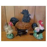 Rooster Lamp & Bookends