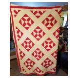 Vintage Red & White Quilt
