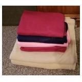 Stack of Nice Clean Fleece Blankets & Throws