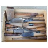 Group of Primitive Tools, Chisels, Hammers, etc.