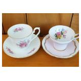 Two Nice Floral Cup & Saucer Sets
