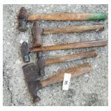 4 Ball Peen Hammers, etc
