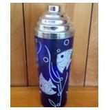 Cobalt Blue Angel Fish Cocktail Shaker
