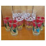 Mid Century Colorful Glasses