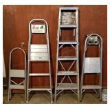 4 Aluminum Ladders & Step Stools