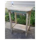 Primitive Garden Plant Stand Table