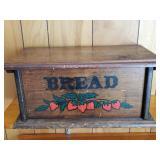 "20"" Primitive Wood Bread Box"