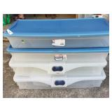 4 Long Underbed Totes w/Lids