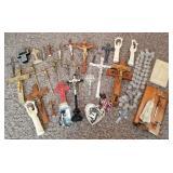 Huge Crucifix/Cross & Religious Items Lot