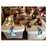 Two Totes Full of Teddy Bear Related Collectibles