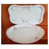 Two Large Antique Serving Platters, One Warwick