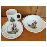 Roy Rogers Rodeo by Universal Childs Dishes