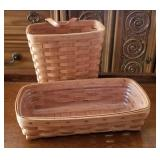 Two Early 1990s Longaberger Baskets