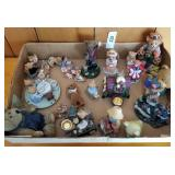 Box Lot of Teddy Bear Figurines