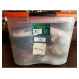 Halloween Latch Box Tote Full of Fall Decorations