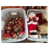 2 Totes Full of Nice Clean Christmas Decorations