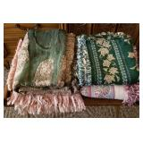 Group of Nice Clean Throw Blankets