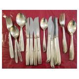 Supreme Silver Plate Flatware Set for 8