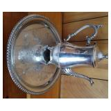 Wm Rogers Silverplate Coffee Pot & Tray