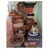 Huge Lot of Wicker Baskets of All Sizes