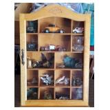 """19"""" Knick Knack Cabinet with Contents"""