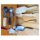 Group of Primitive Kitchen Utensils
