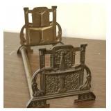 Antique Brass Book Rack/Book Stand
