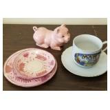 Piggy Bank, Novelty Coffee Cup, 19th Century Dishe