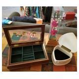 Rose Themed Dresser Box, Jewelry Box, Music Box
