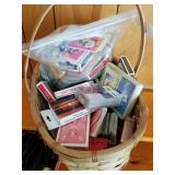 Basket Full of Playing Cards of All Kinds