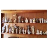 2 Shelves of Angel Figurines & Religious Items
