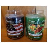 Two Unused 22oz  Yankee Candles