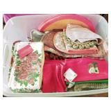 Tote Full of Placemats & Decorator Kitchen Towels