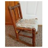 Primitive Doll or Childs Rocking Chair
