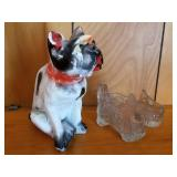 Chalkware Dog & Candy Container