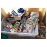 Huge Tote Full of Kids Games, Book, Dolls, Tractor