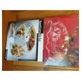 Two Boxed Serving Sets incl Etched Xmas Platter