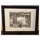 The Old Boat Works by Lionel Barrymore Framed