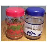 Two Decorator Jars with Lids